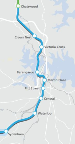 Sydney metro chatswood to sydenham eis